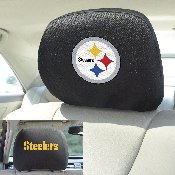 NFL - Pittsburgh Steelers Head Rest Cover 10Inchx13Inch - 2 Pcs Per Set