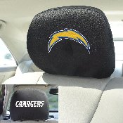 NFL - Los Angeles Chargers Head Rest Cover 10Inchx13Inch - 2 Pcs Per Set