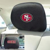 NFL - San Francisco 49ers Head Rest Cover 10Inchx13Inch - 2 Pcs Per Set