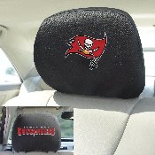 NFL - Tampa Bay Buccaneers Head Rest Cover 10Inchx13Inch - 2 Pcs Per Set