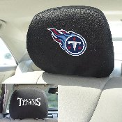 NFL - Tennessee Titans Head Rest Cover 10Inchx13Inch - 2 Pcs Per Set