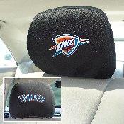 NBA - Oklahoma City Thunder Head Rest Cover 10Inchx13Inch - 2 Pcs Per Set