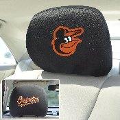 MLB - Baltimore Orioles Head Rest Cover 10Inchx13Inch - 2 Pcs Per Set
