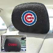 MLB - Chicago Cubs Head Rest Cover 10Inchx13Inch - 2 Pcs Per Set