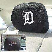 MLB - Detroit Tigers Head Rest Cover 10Inchx13Inch - 2 Pcs Per Set