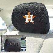 MLB - Houston Astros Head Rest Cover 10Inchx13Inch - 2 Pcs Per Set