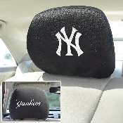 MLB - New York Yankees Head Rest Cover 10Inchx13Inch - 2 Pcs Per Set