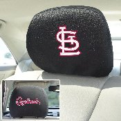 MLB - St. Louis Cardinals Head Rest Cover 10Inchx13Inch - 2 Pcs Per Set