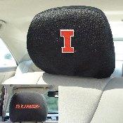 University of Illinois Head Rest Cover 10