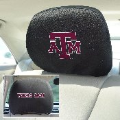 Texas A&M Head Rest Cover 10Inchx13Inch - 2 Pcs Per Set
