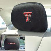 Texas Tech Head Rest Cover 10Inchx13Inch - 2 Pcs Per Set