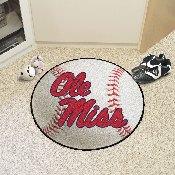 University of Mississippi - Ole Miss Baseball Mat 27 diameter
