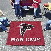 NFL - Atlanta Falcons Man Cave Tailgater Rug 5'x6'