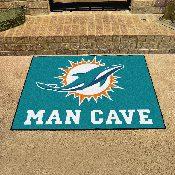 NFL - Miami Dolphins Man Cave All-Star Mat 33.75x42.5