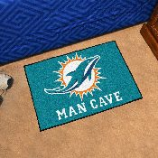 NFL - Miami Dolphins Man Cave Starter Rug 19x30