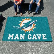 NFL - Miami Dolphins Man Cave UltiMat Rug 5'x8'