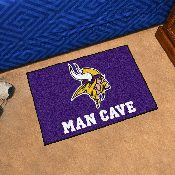 NFL - Minnesota Vikings Man Cave Starter Rug 19x30