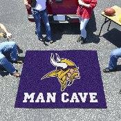 NFL - Minnesota Vikings Man Cave Tailgater Rug 5'x6'