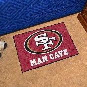 NFL - San Francisco 49ers Man Cave Starter Rug 19x30