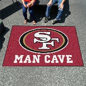 NFL - San Francisco 49ers Man Cave UltiMat Rug 5'x8'