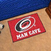 NHL - Carolina Hurricanes Man Cave Starter Rug 19x30