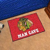 NHL - Chicago Blackhawks Man Cave Starter Rug 19x30
