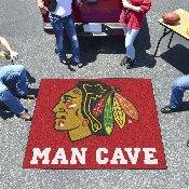 NHL - Chicago Blackhawks Man Cave Tailgater Rug 5'x6'