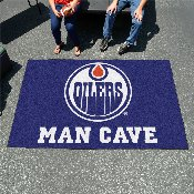 NHL - Edmonton Oilers Man Cave UltiMat Rug 5'x8'