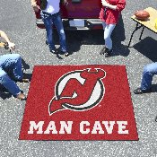 NHL - New Jersey Devils Man Cave Tailgater Rug 5'x6'