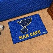 NHL - St. Louis Blues Man Cave Starter Rug 19x30