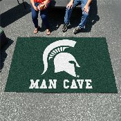 Michigan State Man Cave UltiMat Rug 5'x8'