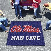 Mississippi - Ole Miss Man Cave Tailgater Rug 5'x6'