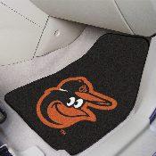 MLB - Baltimore Orioles Cartoon Bird 2-piece Carpeted Car Mats 17x27