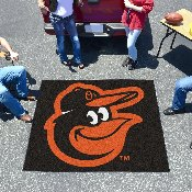 MLB - Baltimore Orioles Cartoon Bird Tailgater Rug 5'x6'