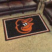 MLB - Baltimore Orioles Cartoon Bird Rug 4'x6'
