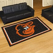 MLB - Baltimore Orioles Cartoon Bird Rug 5'x8'