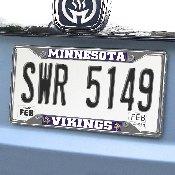NFL - Minnesota Vikings License Plate Frame 6.25