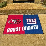NFL -San Francisco 49ers - New York Giants House Divided Rugs 33.75x42.5
