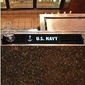 Navy Drink Mat 3.25x24