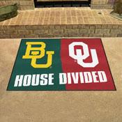Baylor - Oklahoma House Divided Rugs 33.75x42.5