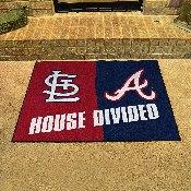 MLB - Cardinals - Braves Divided Rugs 33.75x42.5