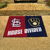 MLB - Cardinals - Brewers Divided Rugs 33.75x42.5