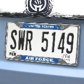 U.S. Air Force License Plate Frame 6.25