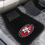 NFL - San Francisco 49ers 2-piece Embroidered Car Mats 18x27