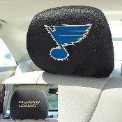 NHL - St. Louis Blues Head Rest Cover 10Inchx13Inch - 2 Pcs Per Set