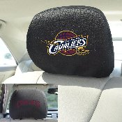 NBA - Cleveland Cavaliers Head Rest Cover 10Inchx13Inch - 2 Pcs Per Set