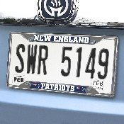 NFL - New England Patriots License Plate Frame 6.25