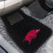 Arkansas 2-piece Embroidered Car Mats 18x27