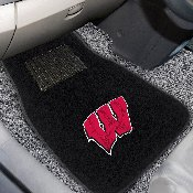 Wisconsin 2-piece Embroidered Car Mats 18x27