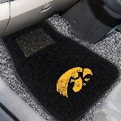 Iowa 2-piece Embroidered Car Mats 18x27